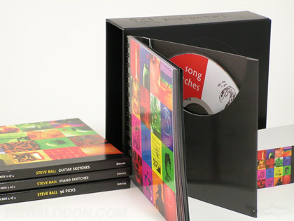 cd collector set with spiral bound notebook and disc in pocket