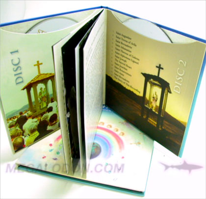 cd book glued on sleeve pockets christian media replication set multidisc 2cd
