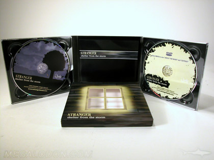 Double cd album set with two trays die cut slipcase window