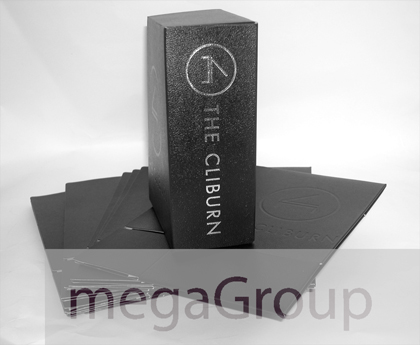 leather box set silver foil printing