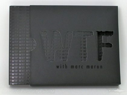 CD Slipcase with die cut lettering cut out spot gloss