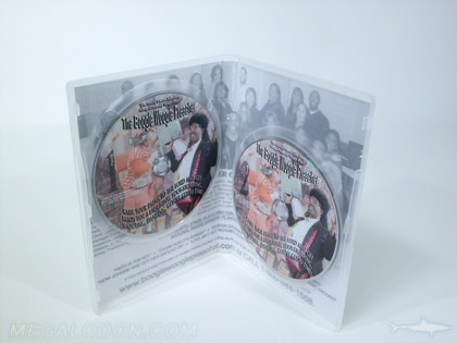 Clear 2disc plastic case, 2 dvd discs