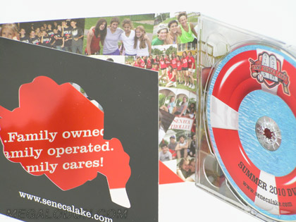 custom cd packaging with die cut window