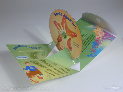 custom cd packaging pop up pack 3D