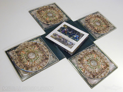 cross shaped multi disc tray pack for 4 cds