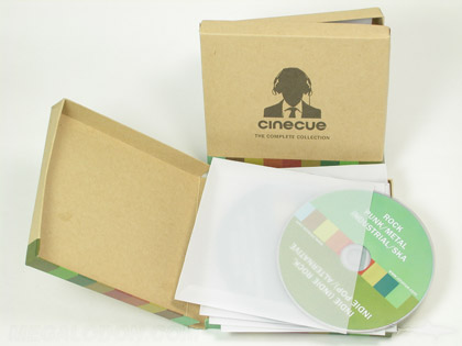 fiberboard box packaging cd set