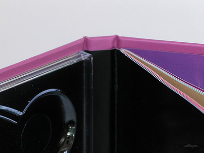 cd book binding glued booklet