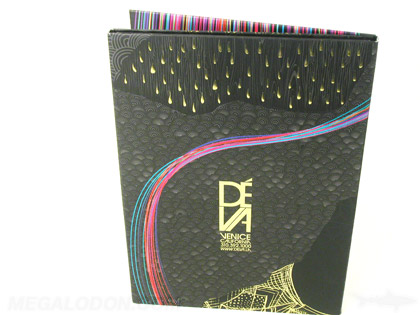 DVD packaging with gold foil stamping, embossing, and spot UV gloss matte lamination contrast