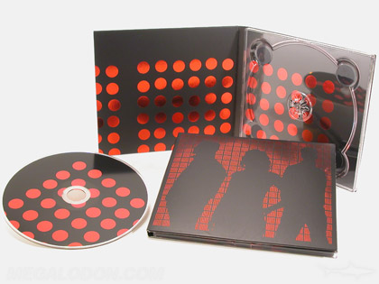 deluxe cd packaging with red foil