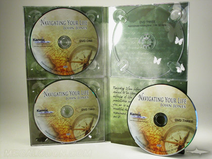 3cd set triple disc packaging 4pp mega tall packaging with 3 plastic trays and foam filler