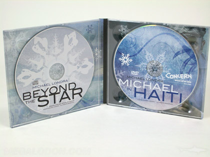 Photo of 2 disc cd digipak, midheight, 2 clear trays