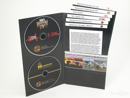 2CD Set tall jacket with two cd foam hubs staggered inserts in a pocket slipcase