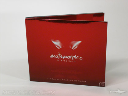 CD packaging with red foil paper
