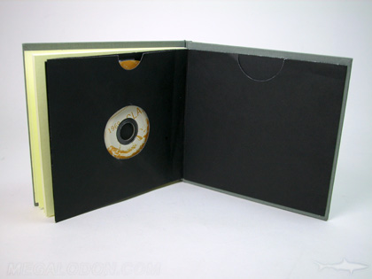 CD DVD Book swinging sleeve die cut hole