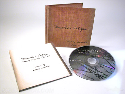 custom cd album with uncoated stock paper vintage look