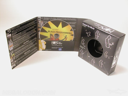 custom retail box with dvd packaging