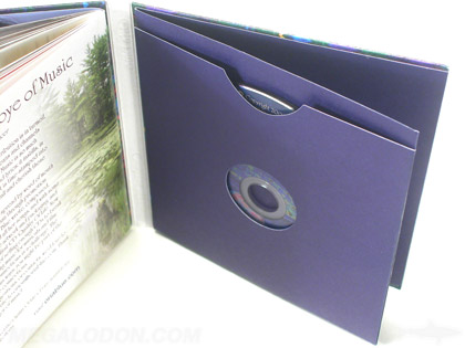 softbound cd book with swinging sleeve packaging