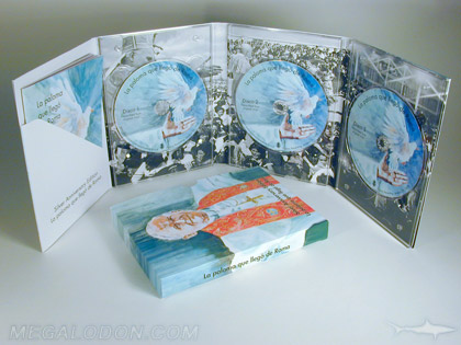 Multi disc package with printed spines PIPS