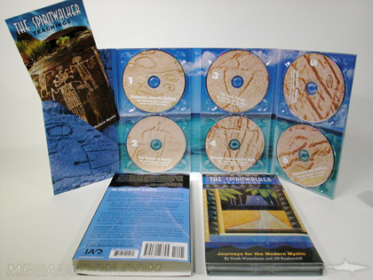 6cd multidisc set packaging, multi disc set with six trays, diagonal pocket, booklet, and slipcase