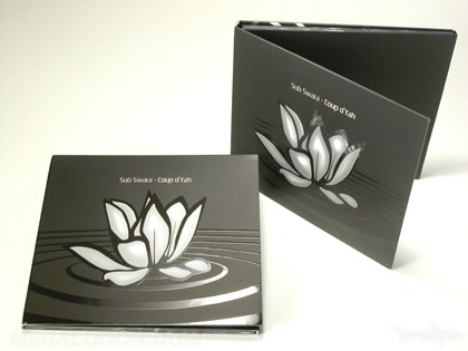 spot gloss printing printed packaging  on cd packaging with matte lamination