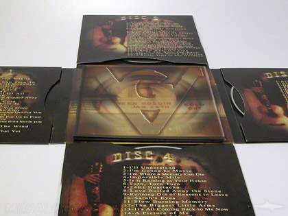 cross shaped cd jacket with booklet in center 3cd 4cd set packaging