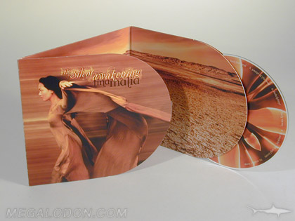 custom cd packaging curved pockets
